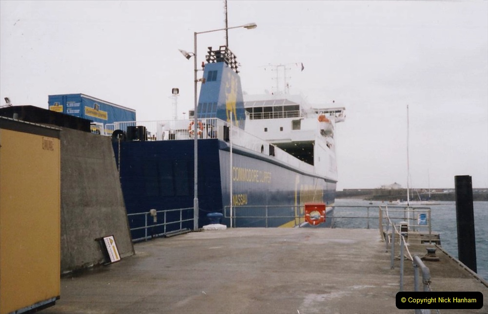 1999 September for a short dtay in Guernsey with friends. (45) New ferry Commodore Clipper open to the public. 45