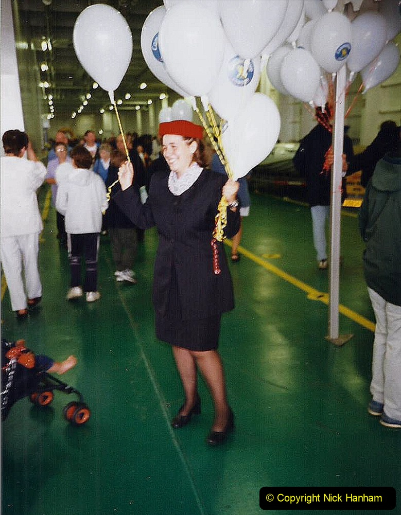 1999 September for a short dtay in Guernsey with friends. (48) New ferry Commodore Clipper open to the public. 48