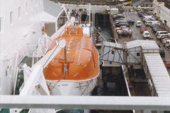 1999 September for a short dtay in Guernsey with friends. (56) New ferry Commodore Clipper open to the public. 56