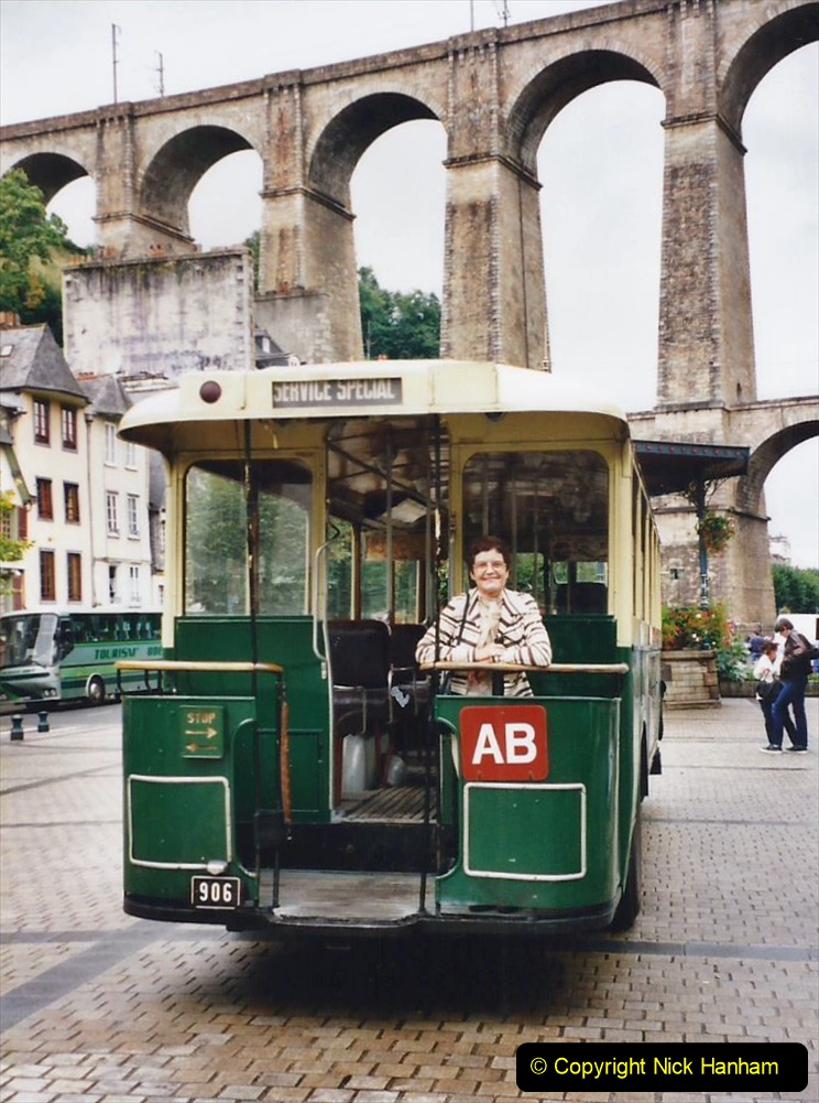 2000 France in September. (29) Morlaix with a selection of vintage vehicles. 29
