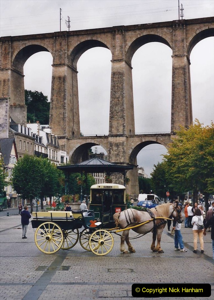 2000 France in September. (33) Morlaix with a selection of vintage vehicles. 33