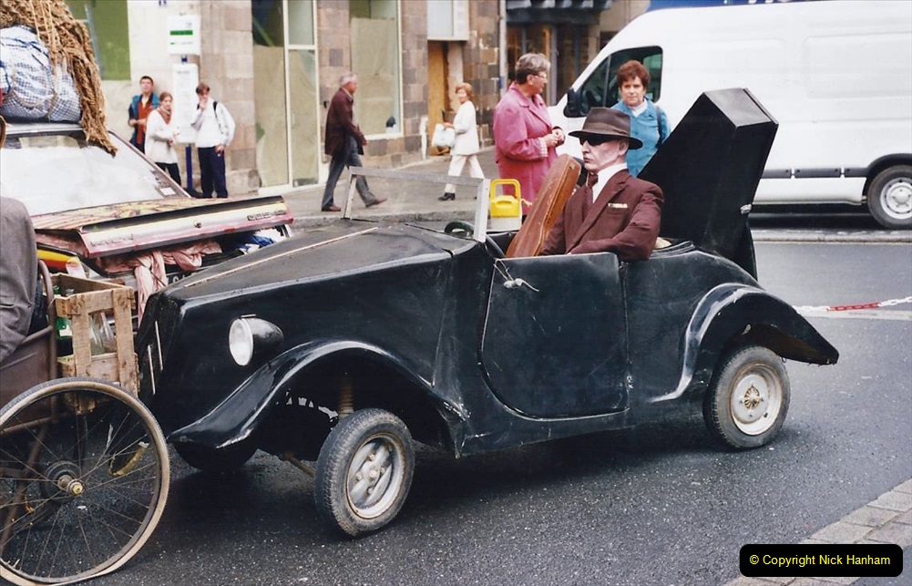 2000 France in September. (36) Morlaix with a selection of vintage vehicles. 36