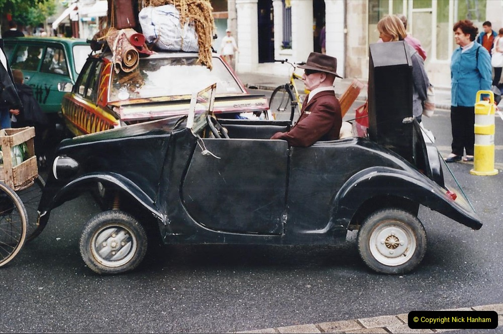 2000 France in September. (37) Morlaix with a selection of vintage vehicles. 37
