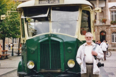 2000 France in September. (30) Morlaix with a selection of vintage vehicles. 30
