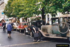 2000 France in September. (34) Morlaix with a selection of vintage vehicles. 34