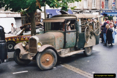 2000 France in September. (40) Morlaix with a selection of vintage vehicles. 40