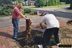 2000 Miscellaneous. (177) Garden improvements with my neighbour. 178