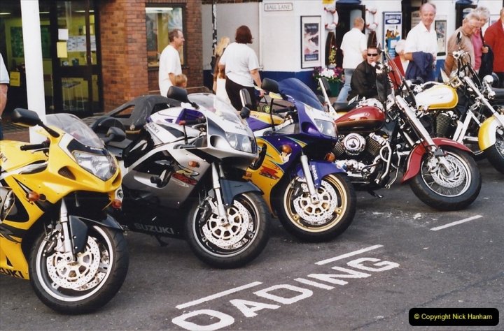 2001 Miscellaneous. (182) Tuesday nights is Bikers Night on Poole Quay, Poole, Dorset. 182