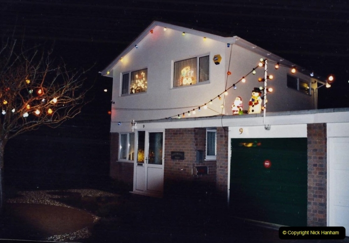 2001 Miscellaneous. (318) Your Host & Wife light up our house for charity at Christmas. 319
