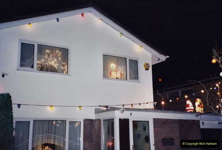 2001 Miscellaneous. (319) Your Host & Wife light up our house for charity at Christmas. 320