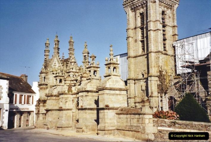 2001 September in France. (17) St. Thegonnec fire damage. 17