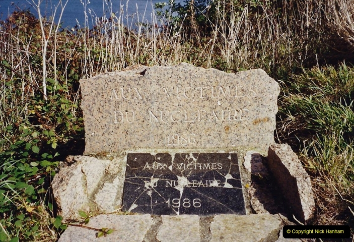 2001 September in France. (31) Your Host & Wife's favourite view. Memorial to the dead in a nuclear accident.31