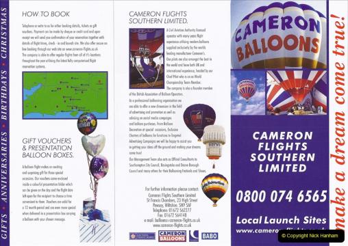 Retrospective 2002 - Balloon Flight over Dorset