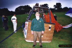 2002 August 19 Balloon Flight over Dorset by your Hosy and Wife. (42) Landed. 42