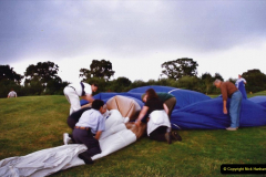 2002 August 19 Balloon Flight over Dorset by your Hosy and Wife. (43) Helping put the balloon away. 43