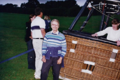 2002 August 19 Balloon Flight over Dorset by your Hosy and Wife. (44) Helping put the balloon away. 44