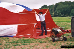 2002 August 19 Balloon Flight over Dorset by your Hosy and Wife. (5) Balloon preparation. 05