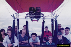 2002 August 19 Balloon Flight over Dorset by your Hosy and Wife. (54) Flight group picture with your Host and Wife bottom right.54