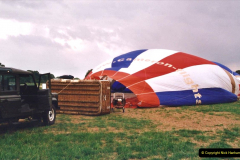 2002 August 19 Balloon Flight over Dorset by your Hosy and Wife. (6) Balloon preparation. 06