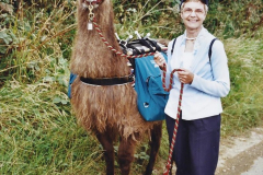 2002 September 04 Taking Llamas for a Walk. (25) 25