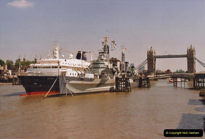 2002 July - London. (15) HMS Belfast and Minerva. 15