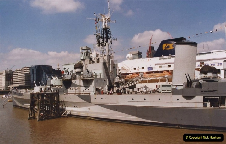 2002 July - London. (17) HMS Belfast and Minerva. 17
