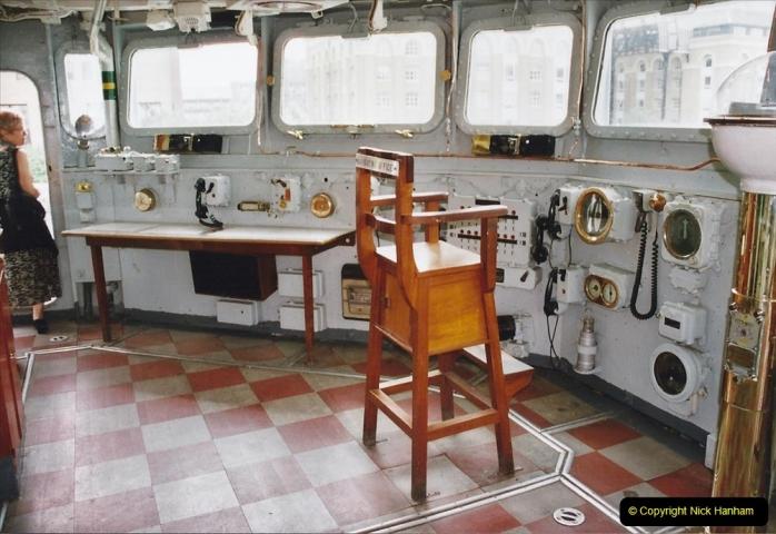 2002 July - London. (39) HMS Belfast. On the Bridge. 39