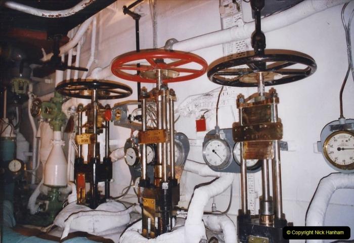 2002 July - London. (47) HMS Belfast Engine Room. 47