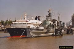 2002 July - London. (16) HMS Belfast and Minerva. 16