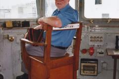 2002 July - London. (40) HMS Belfast. On the Bridge. 40