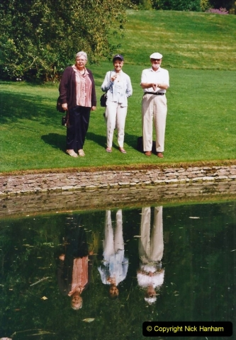 2002 Miscellaneous. (166) Dyrham Park (NT) near Bath, Somerset with friends. 163