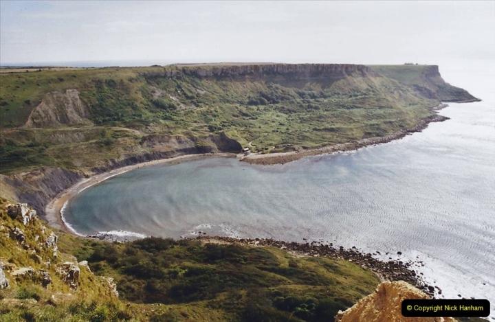 2002 Miscellaneous. (206) A Dorset Cliff Walk with friends. Chapmans Pool.206