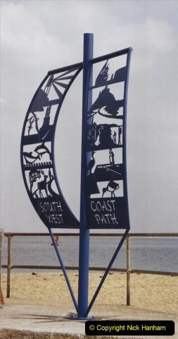 2002 Miscellaneous. (219) New South West Coastal Path start sign at Studland, Dorset.219