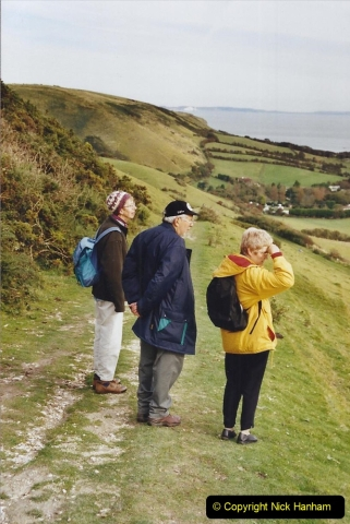 2002 Miscellaneous. (258) Via the SR for Purbeck Hills walk with friends. 258