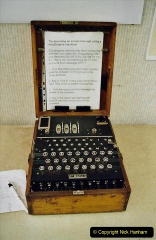 2002 Miscellaneous. (81) Bletchley Park Near Milton Keynes, Bedfordshire. A German ENIGMS code machine. 081