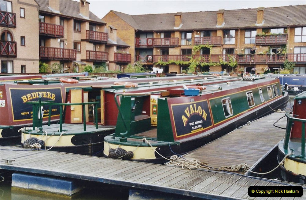 2002 Kennet & Avon Canal and The River Avon narrow boat trip with friends. (4) Staverton Marina Trowbridge, Wiltshire. 004