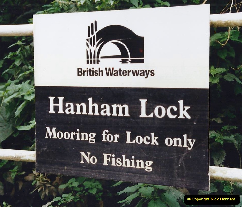 2002 Kennet & Avon Canal and The River Avon narrow boat trip with friends. (71) Our goal Hanham Lock Bristol. 071
