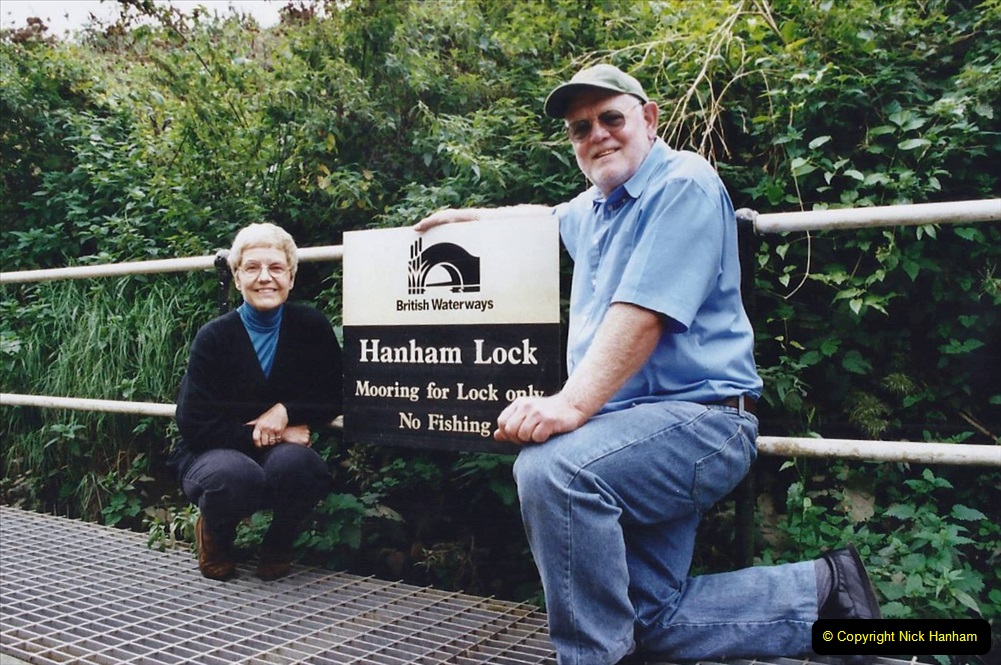2002 Kennet & Avon Canal and The River Avon narrow boat trip with friends. (72) Our goal Hanham Lock Bristol. 072