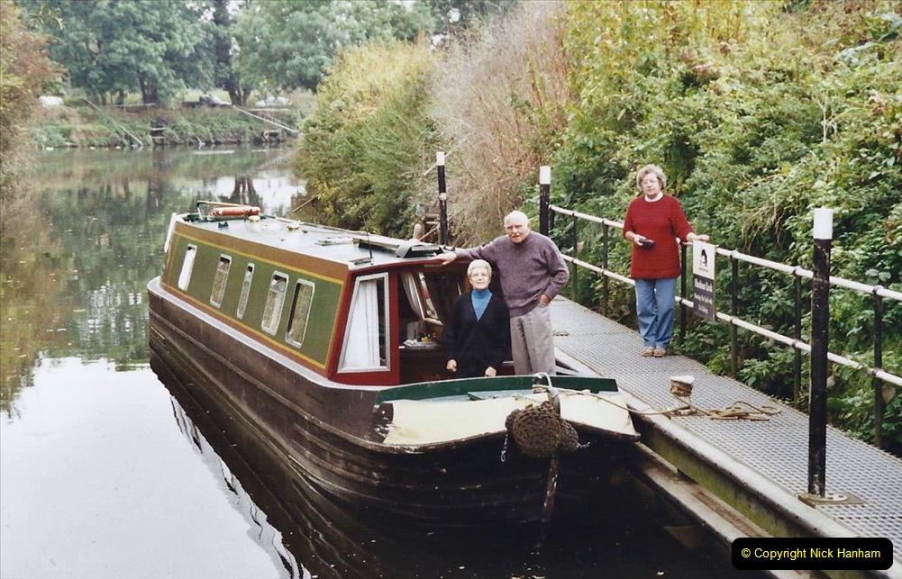 2002 Kennet & Avon Canal and The River Avon narrow boat trip with friends. (73) Our goal Hanham Lock Bristol. 073