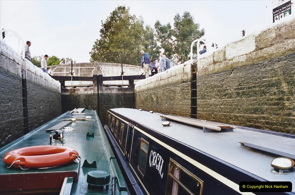 2002 Kennet & Avon Canal and The River Avon narrow boat trip with friends. (9) Bradford on Avon, Wiltshire. 009