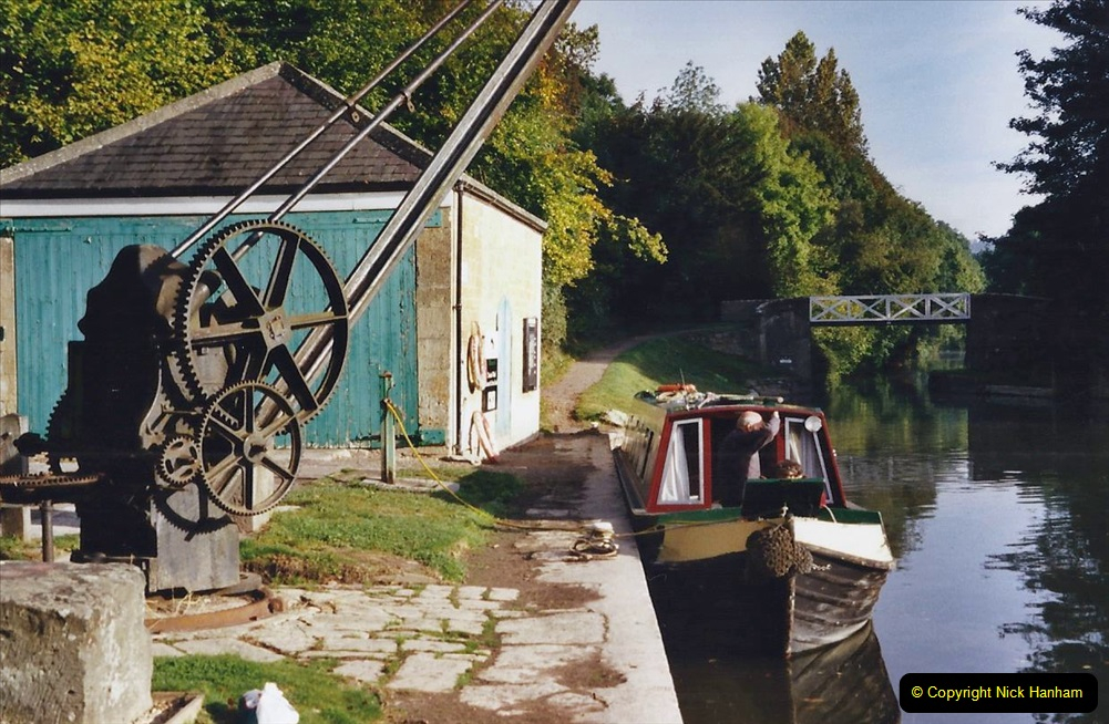 2002 Kennet & Avon Canal and The River Avon narrow boat trip with friends. (92) Dundas Wharf. 092