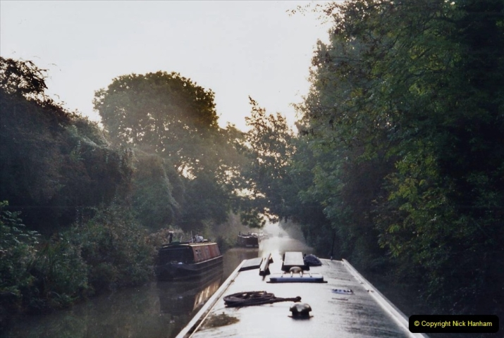 2002 Kennet & Avon Canal and The River Avon narrow boat trip with friends. (111) On the wat back to Trowbridge.111