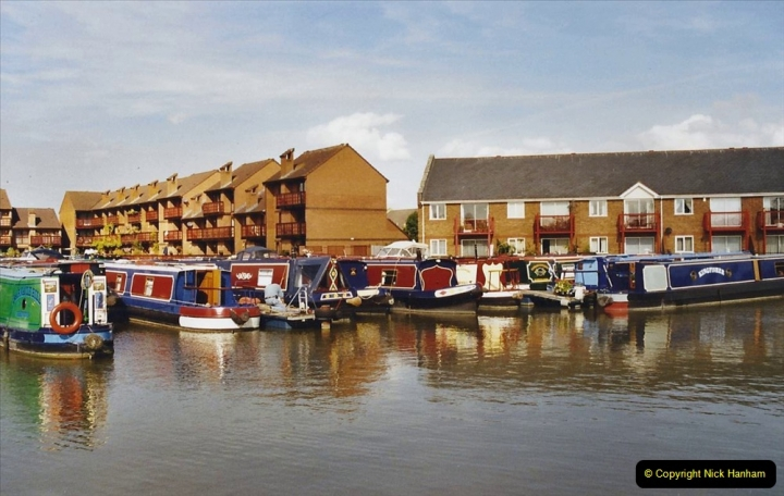 2002 Kennet & Avon Canal and The River Avon narrow boat trip with friends. (3) Staverton Marina Trowbridge, Wiltshire. 003