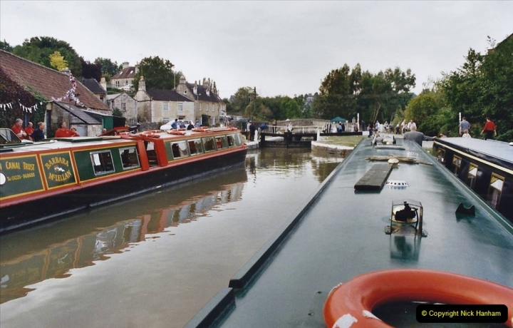 2002 Kennet & Avon Canal and The River Avon narrow boat trip with friends. (7) Bradford on Avon, Wiltshire. 007