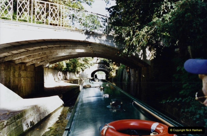 2002 Kennet & Avon Canal and The River Avon narrow boat trip with friends. (83) Back in Bath. 083