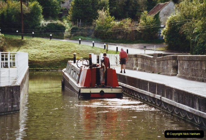 2002 Kennet & Avon Canal and The River Avon narrow boat trip with friends. (96) Dundas Wharf.096