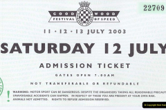 Retrospective 2003 July - Goodwood Festival of Speed