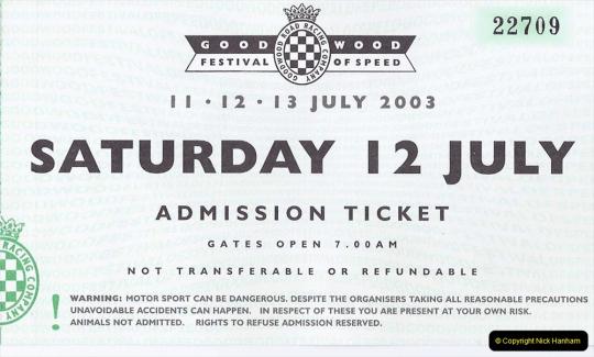 Retrospective 2003 July - Goodwood Festival of Speed