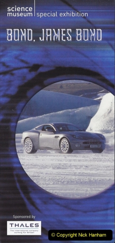 2003 Miscellaneous. (71) James Bond 007 Exhibition at the Science Museum London.
