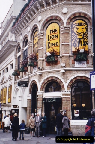 2004 Miscellaneous. (11) In London to see The Lion King.